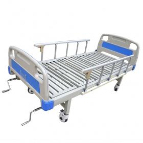 万博网页版登陆页面病床-ABS床头铝合金护栏移动式万博网页版登陆页面床双摇款